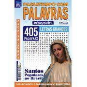 Passatempos Com Palavras Ed. 80 - Médio/Difícil - Letras Grandes - Santos Populares no Brasil