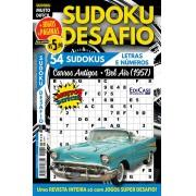 Sudoku Desafio Ed. 79 - Muito Difícil - Só Super Desafio - Com Letras e Números - Carros Antigos - Bel Air (1957)