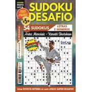 Sudoku Desafio Ed. 80 - Muito Difícil - Só Super Desafio - Com Letras e Números - Artes Marciais - Karatê Shotokan