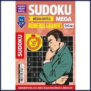 Sudoku Mega Ed. 04 - Médio/Difícil - Com Números Grandes - Só Jogos 9x9