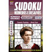 Sudoku Números e Desafios Ed. 122 - Médio/Difícil - Só Jogos 9x9 - Números Grandes - Grandes Cientistas - Marie Curie