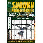 Sudoku Números e Desafios Ed. 123 - Médio/Difícil - Só Jogos 9x9 - Números Grandes - Danças - Break Dance