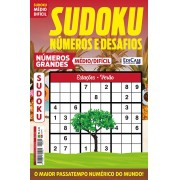 Sudoku Números e Desafios Ed. 124 - Médio/Difícil - Só Jogos 9x9 - Números Grandes - Estações - Verão