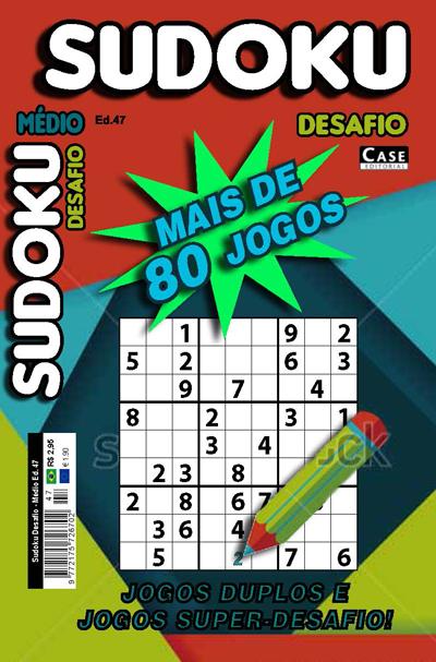 Sudoku Desafio - Edição 47 - Médio  - Case Editorial