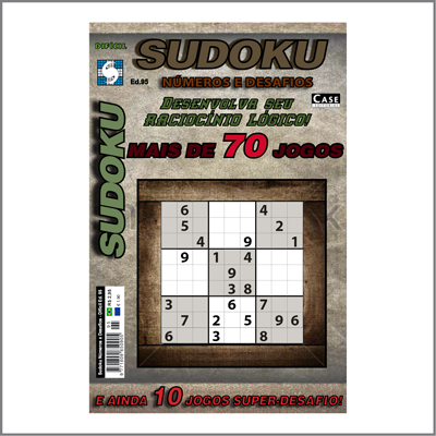 Sudoku Números e Desafios - Edição 95 - Difícil  - Case Editorial