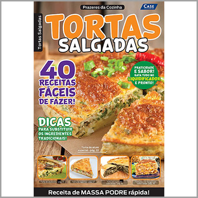 Prazeres da Cozinha - Ed. 01 (Tortas Salgadas)  - Case Editorial