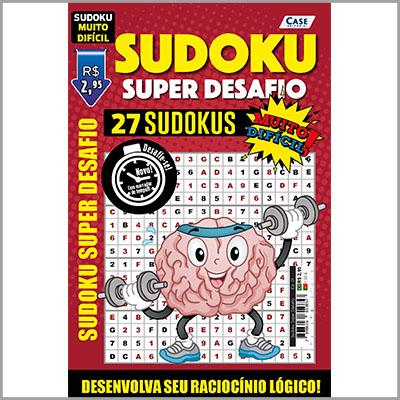 Sudoku Super Desafio Ed. 01 - VERSÃO PARA DOWNLOAD (PDF) e IMPRIMIR - Muito Difícil - Só Jogos 16x16 Super Desafio Com Letras e Números   - EdiCase Publicações