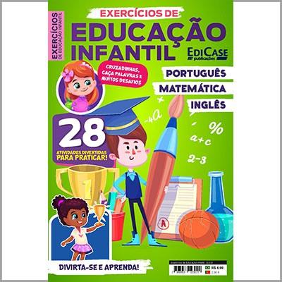 Exercícios de Educação Infantil - Ed. 01 (Português, Matemática e Inglês)  - Case Editorial