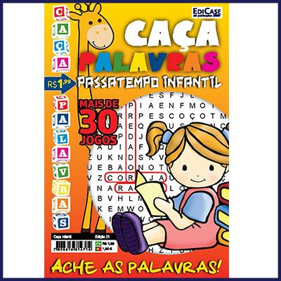 Caça Infantil Ed. 01 - Caça Palavras  - Case Editorial