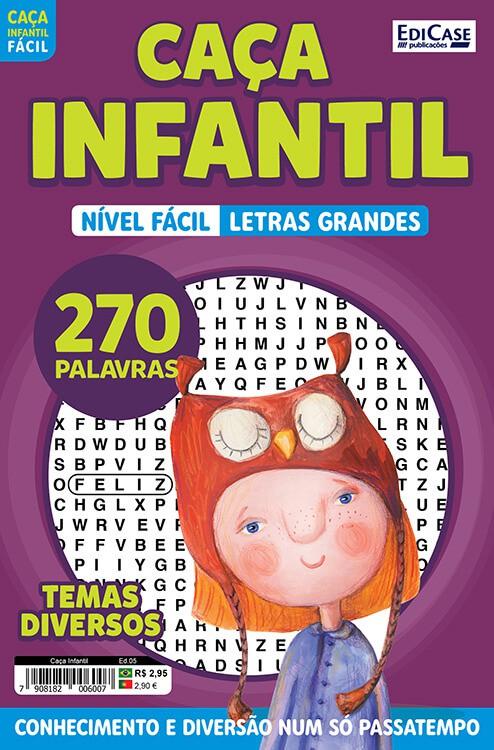 Caça Infantil Ed. 05 - Fácil - Letras Grandes - Temas Diversos  - EdiCase Publicações
