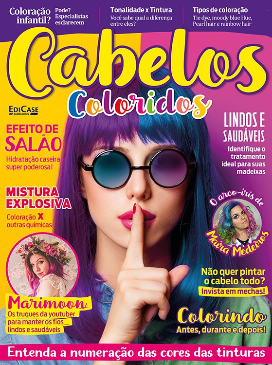 Cabelos Coloridos Ed. 01 - Marimoon, Maíra Medeiros, Julia Doorman  - EdiCase Publicações