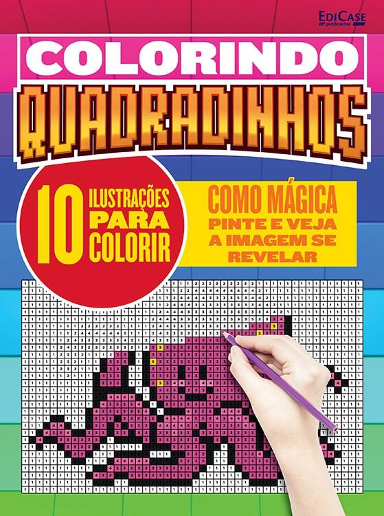 Colorindo Quadradinhos Ed. 01 - 10 Ilustrações Para Colorir  - EdiCase Publicações