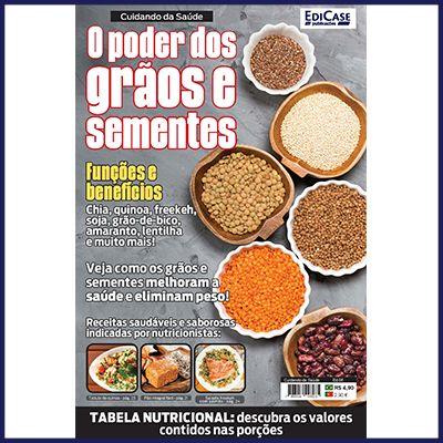 Cuidando da Saúde Ed. 06 - O Poder dos Grãos e Sementes  - Case Editorial