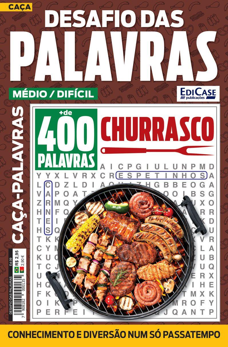 Desafio das Palavras Ed. 09 - Médio/Difícil - Tema: Churrasco  - EdiCase Publicações