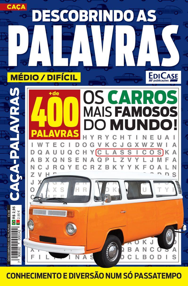 Descobrindo as Palavras Ed. 39 - Médio/Difícil - Os Carros Mais Famosos do Mundo