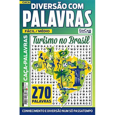 Diversão Com Palavras Ed. 22 - Fácil/Médio - Turismo no Brasil  - Case Editorial