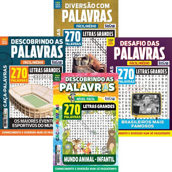 Kit Caça-Palavras - Mai/19 - 4 Revistas  - EdiCase Publicações