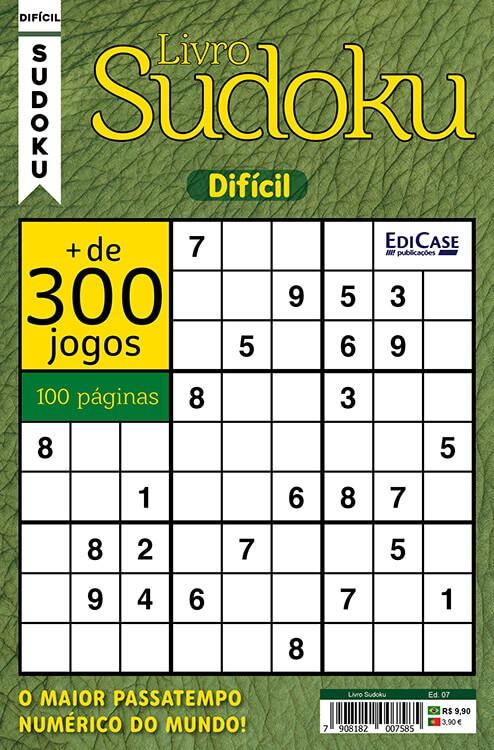 Livro Sudoku Ed. 07 - Difícil - Com Marcador de Tempo - Só Jogos 9x9