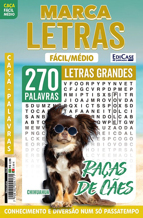Marca Letras Ed. 58 - Fácil/Médio - Letras Grandes - Raças de Cães  - EdiCase Publicações