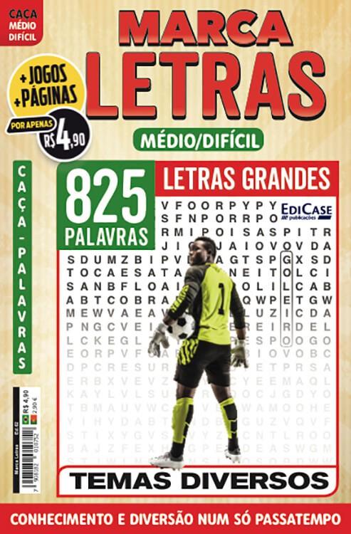 Marca Letras Ed. 62 - Médio/Difícil - Letras Grandes - Temas Diversos  - EdiCase Publicações