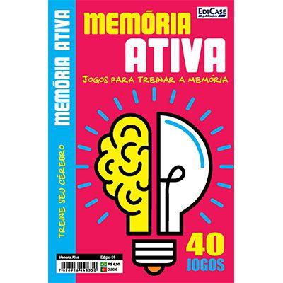 Memória Ativa Ed. 01 - Jogos Para Treinar a Memória  - EdiCase Publicações