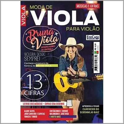 Músicas e Cifras Ed. 17 - Bruna Viola - Moda de Viola Para Violão  - EdiCase Publicações