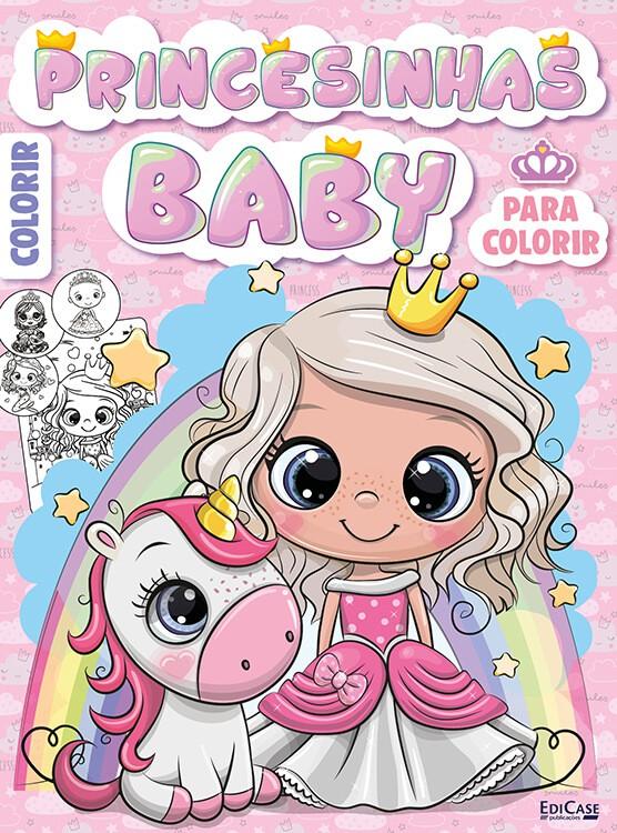 Pôster Colorir Infantil Ed. 02 - Princesinhas Baby  - EdiCase Publicações