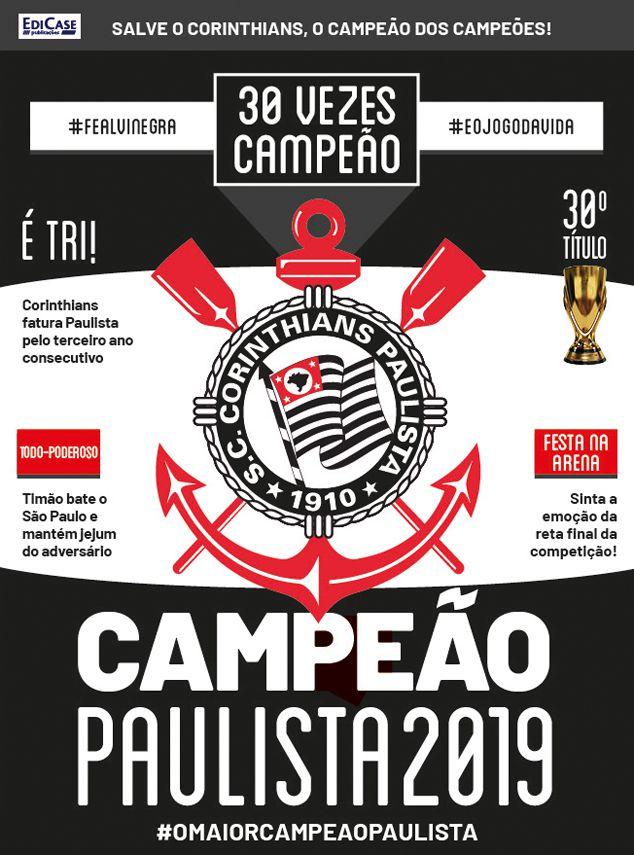 Pôster Paulistão 2019 Ed. 01 - Corinthians   - EdiCase Publicações