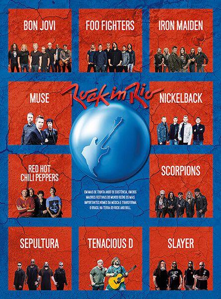 Pôster Rock In Rio 2019 Ed. 01 - Rock   - EdiCase Publicações