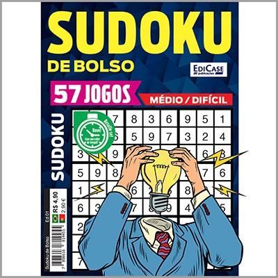 Sudoku de Bolso Ed. 01 - Médio/Difícil  - Case Editorial