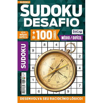 Sudoku Desafio Ed. 60 - Médio/Difícil - Só Jogos 9x9  - EdiCase Publicações