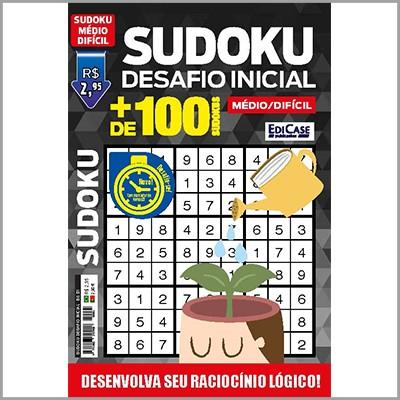 Sudoku Desafio Inicial - Ed. 01 (Difícil)  - EdiCase Publicações