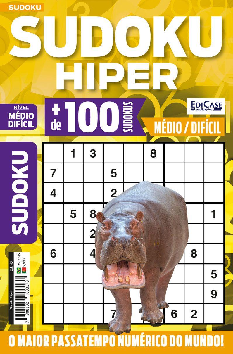 Sudoku Hiper Ed. 48 - Médio/Difícil - Só Jogos 9x9  - EdiCase Publicações