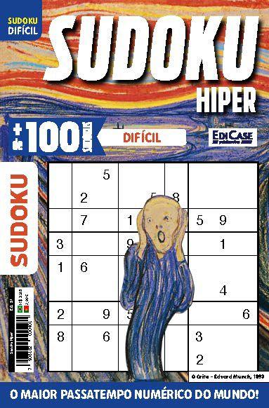 Sudoku Hiper Ed. 51 - Difícil - Só Jogos 9x9 - O Grito  - EdiCase Publicações