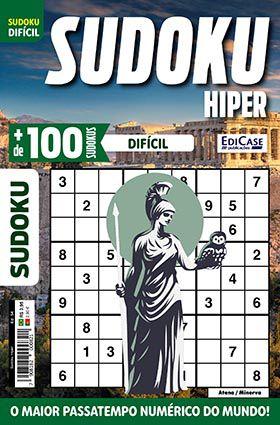 Sudoku Hiper Ed. 54 - Difícil - Só Jogos 9x9 - Atena / Minerva  - EdiCase Publicações
