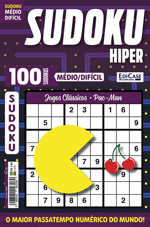 Sudoku Hiper Ed. 58 - Médio/Difícil - Só Jogos 9x9 - Jogos Clássicos - Pac-Man  - EdiCase Publicações
