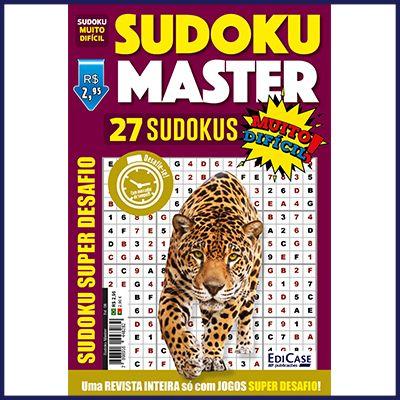 Sudoku Master Ed. 08 - Muito Difícil - Só Super Desafio - Com Letras e Números  - Case Editorial