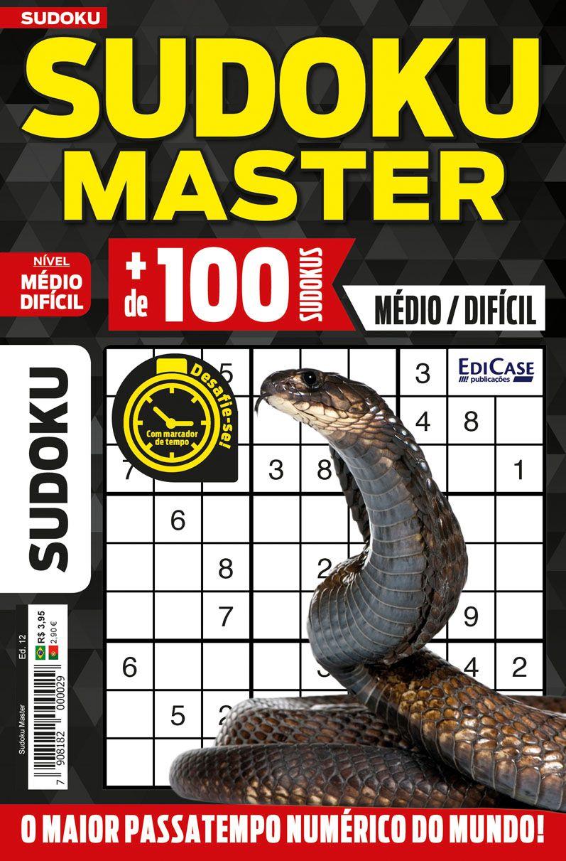 Sudoku Master Ed. 12 - Médio/Difícil - Só jogos 9x9  - EdiCase Publicações
