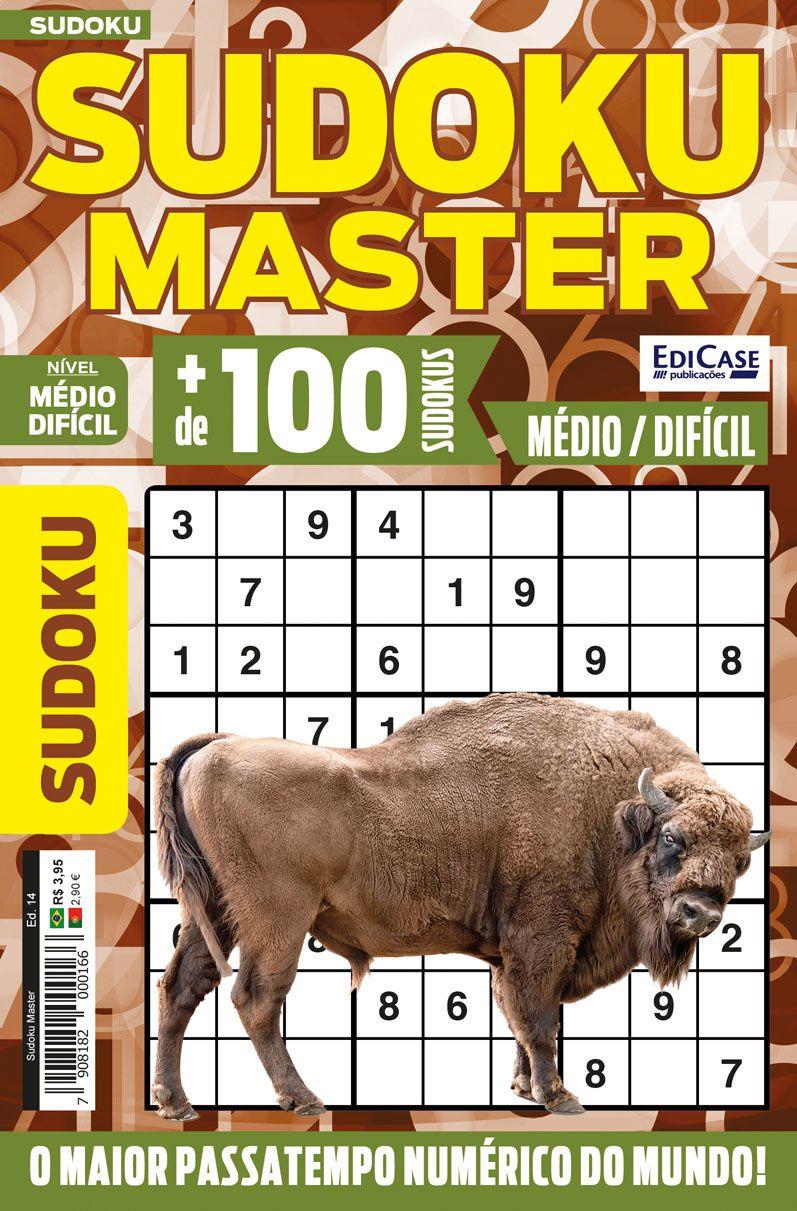 Sudoku Master Ed. 14 - Médio/Difícil - Só jogos 9x9  - EdiCase Publicações