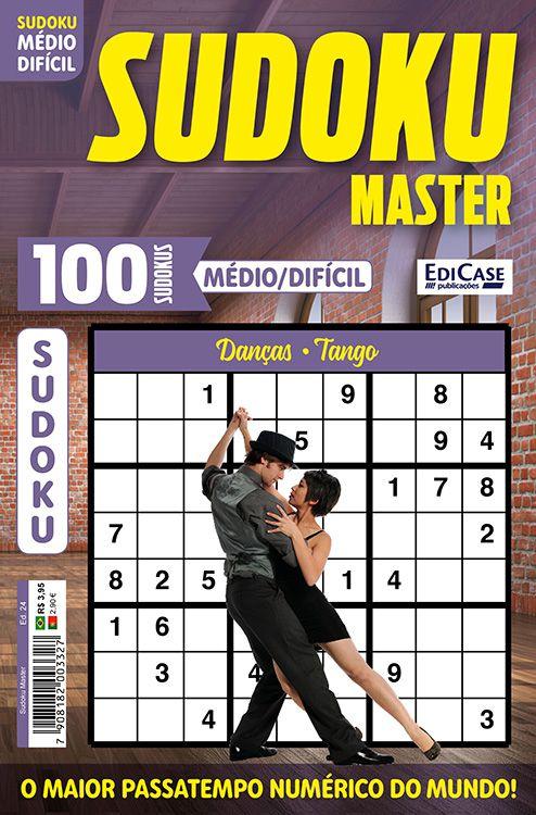 Sudoku Master Ed. 24 - Médio/Difícil - Só jogos 9x9 - Danças - Tango  - EdiCase Publicações