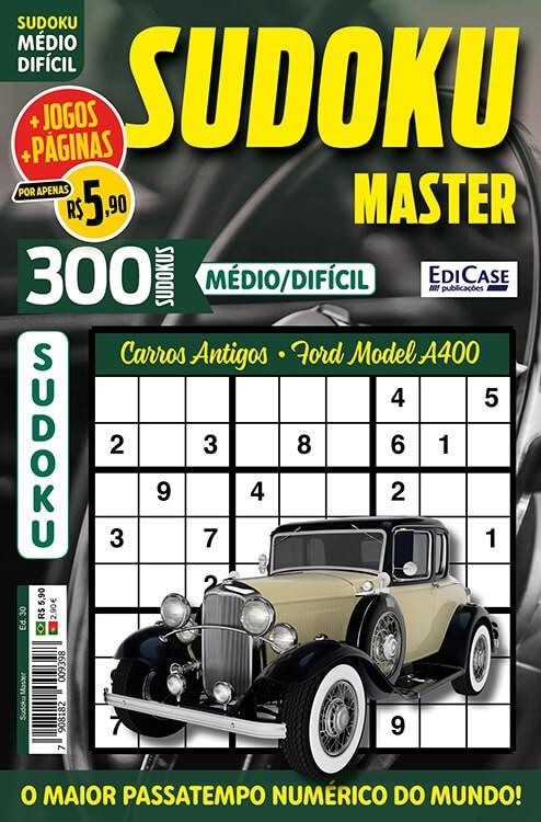 Sudoku Master Ed. 30 - Médio/Difícil - Só jogos 9x9 - Período - Carros Antigos - Ford Model A400