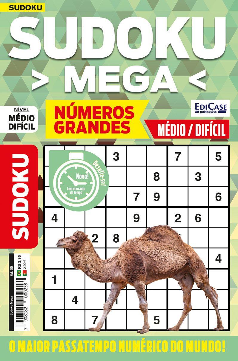 Sudoku Mega Ed. 05 - Médio/Difícil - Com Números Grandes - Só Jogos 9x9  - EdiCase Publicações