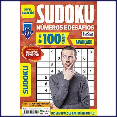 Sudoku Números e Desafios Ed. 109 - Avançado - Só Jogos 9x9  - Case Editorial