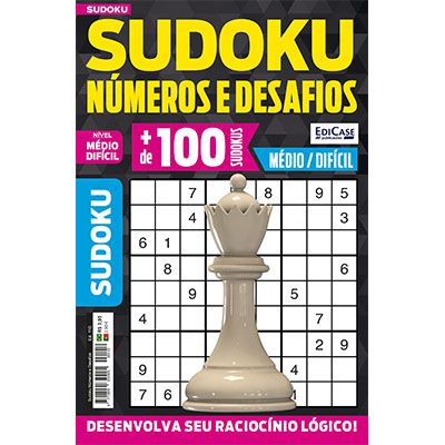 Sudoku Números e Desafios Ed. 110 - Médio/Difícil - Só Jogos 9x9   - EdiCase Publicações