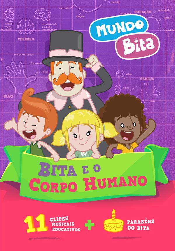 DVD BITA E O CORPO HUMANO  - Lojinha do Bita