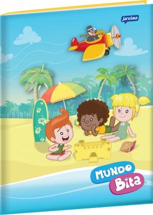 Caderno Brochura Grande - Tema: Praia  - Lojinha do Bita
