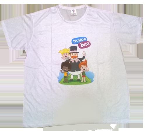 Camiseta Mundo Bita Adulto  - Lojinha do Bita