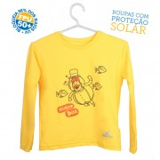 Camiseta Mundo Bita Amarela Longa – UV.action