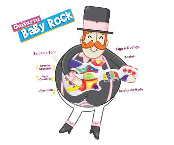 Guitarra Baby Rock  - Lojinha do Bita