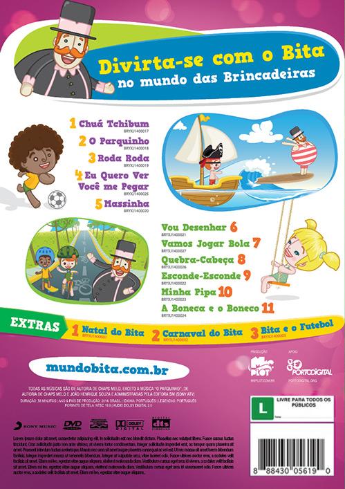 DVD BITA E AS BRINCADEIRAS  - Lojinha do Bita